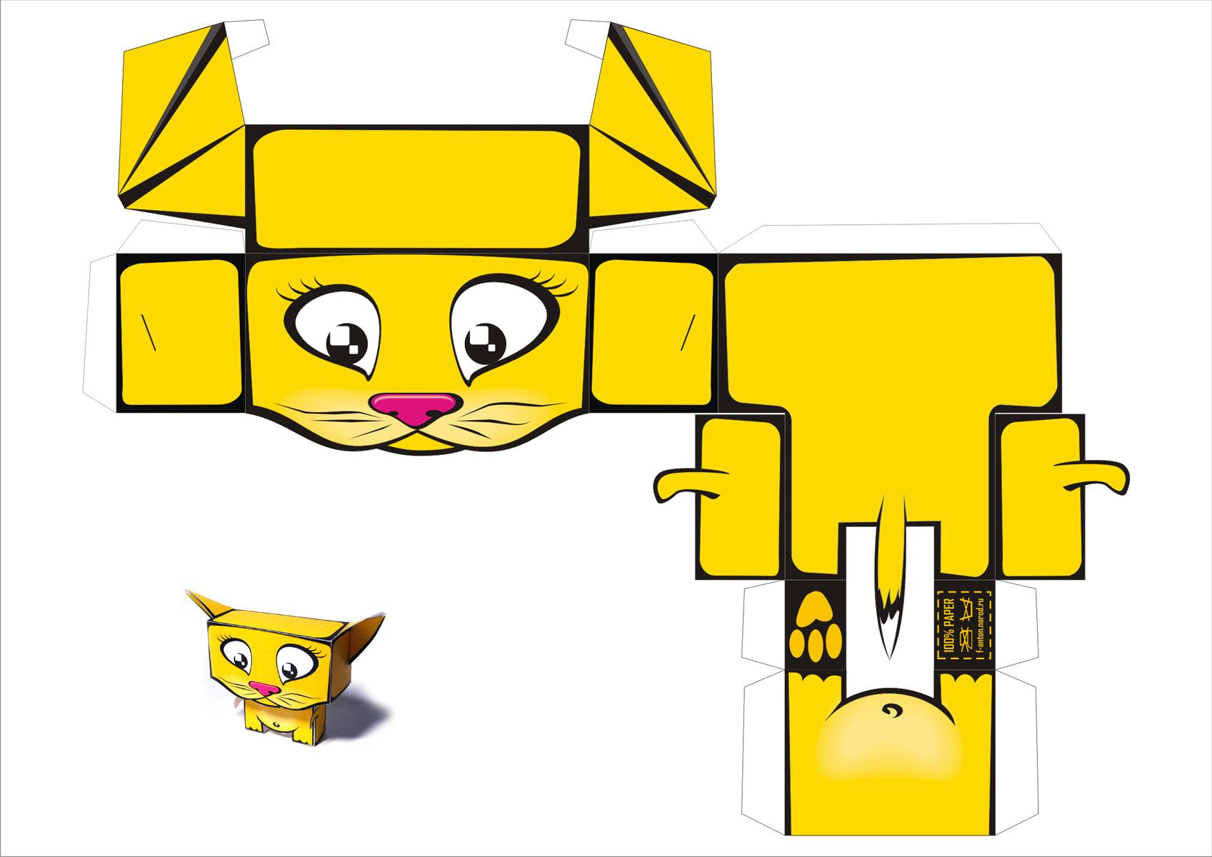 Papercraft de un gato / cat. - Manualidades a Raudales