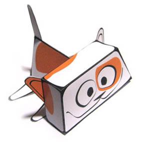 кот-лентяй - игрушка из бумаги