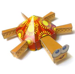 Papercraft imprimible de una tortuga / turtle. Manualidades a Raudales.