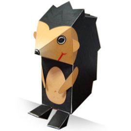 Papercraft imprimible y armable de un Erizo / Hedgehog. Manualidades a Raudales.