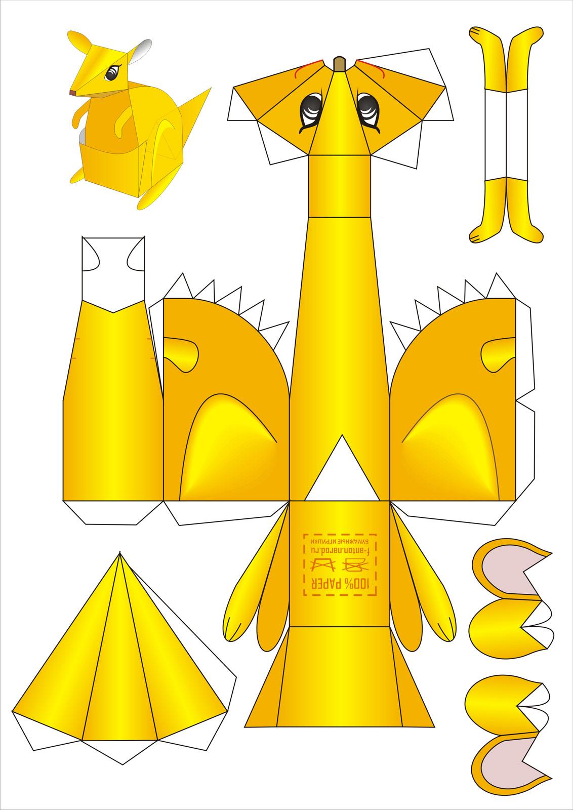 Игрушки из бумаги своими руками схема для