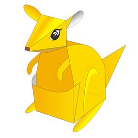 Papercraft imprimible y armable de un Canguro / Kangaroo. Manualidades a Raudales.