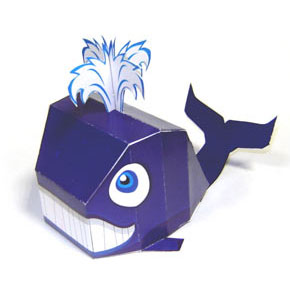 Papercraft imprimible y armable de una Ballena / Whale. Manualidades a Raudales.