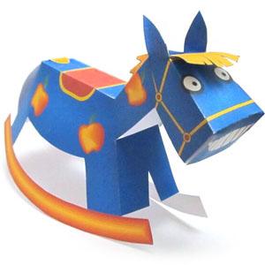 игрушка новогодняя лошадь из бумаги