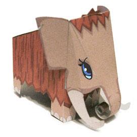 Papercraft imprimible y armable de un Mamut. Manualidades a Raudales.