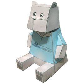 медвежонок игрушка из бумаги медведь паперкрафт