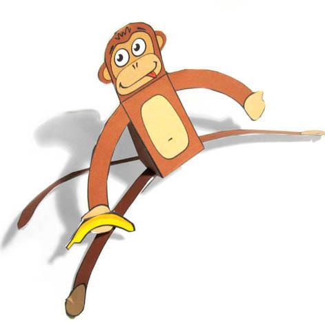 обезьянка из бумаги