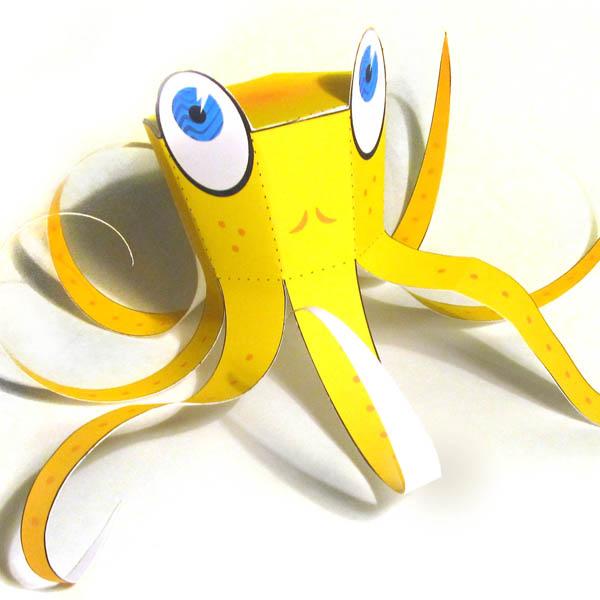 осминог из бумаги