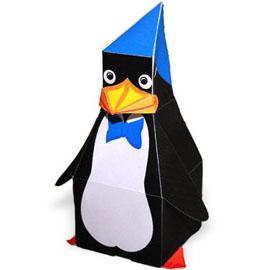 игрушка пингвин из бумаги