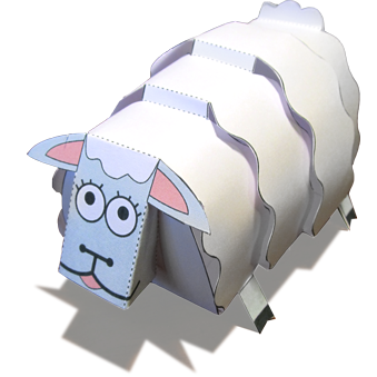 Papercraft imprimible y armable de una oveja / sheep. Manualidades a Raudales.