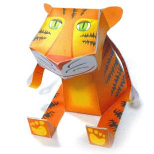 Papercraft imprimible y armable de un Tigre / Tiger. Manualidades a Raudales.
