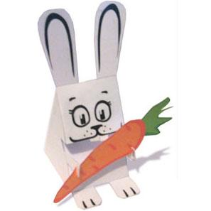 новогодний заяц кролик игрушка из бумаги