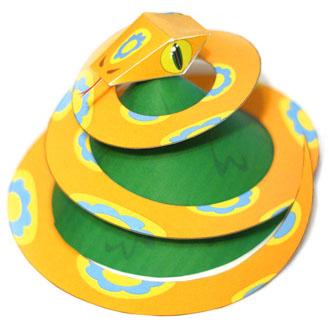 игрушка змея из бумаги